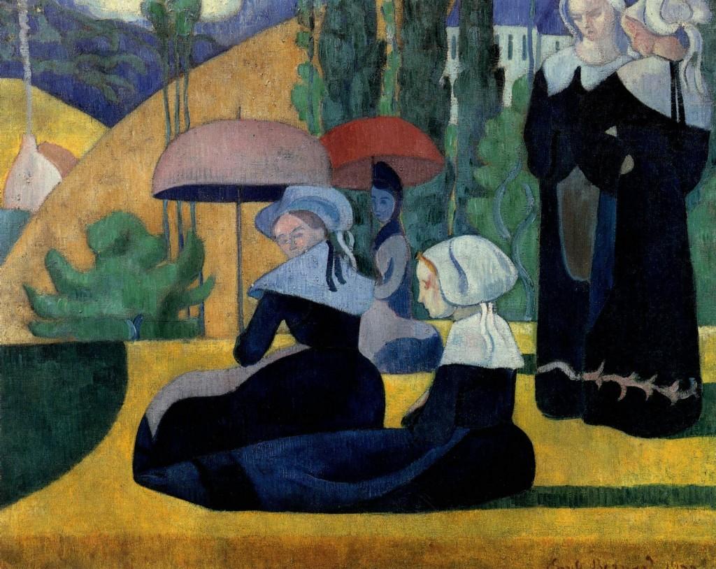 Bretonnes-aux-ombrelles.-Emile-Bernard