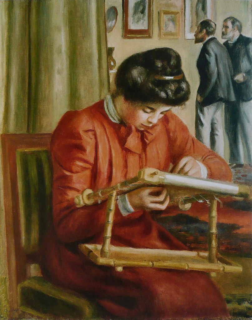Pierre-Auguste_Renoir_-_Christine_Lerolle_brodant